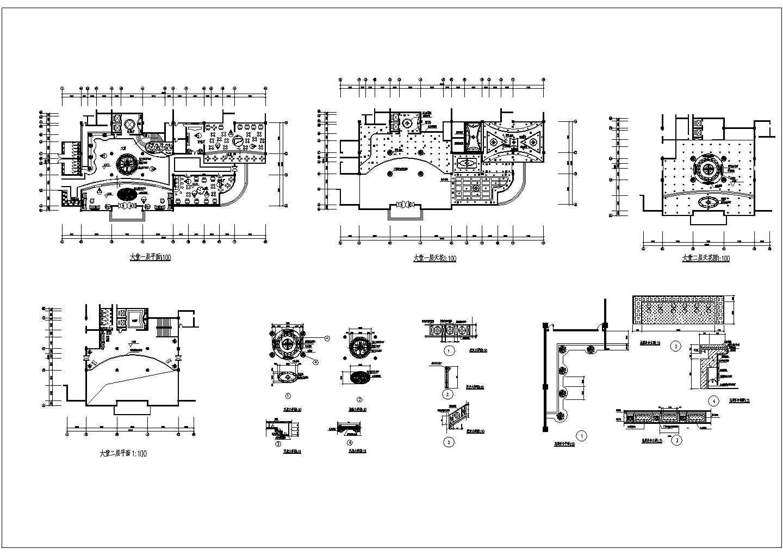某地区西餐厅建筑cad一层平面图纸图片1