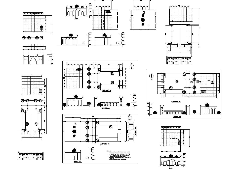 清真寺建筑设计CAD施工方案图图片1
