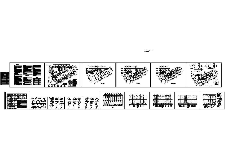 某地厂区商住楼水施建筑设计CAD图图片1