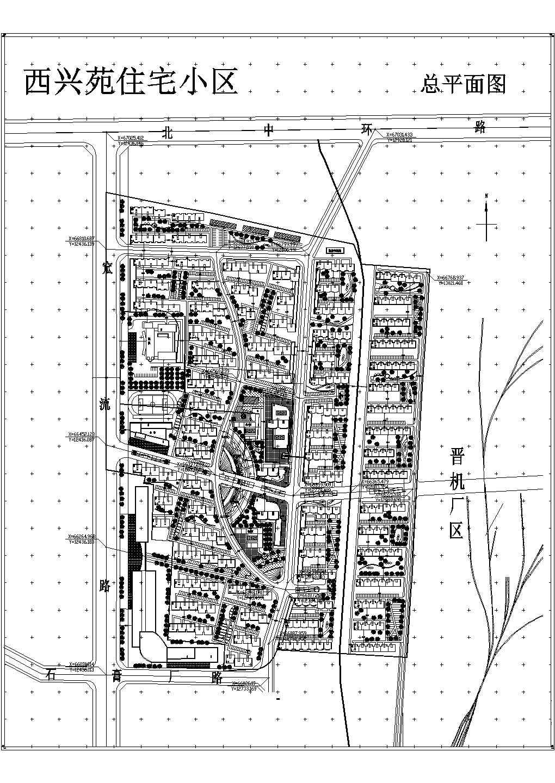 某别墅小区总规划建筑总平面图图片1