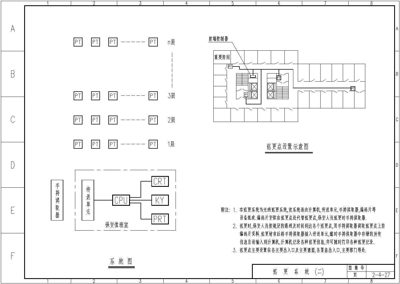 安防报警楼宇对讲系统CAD图纸图片1