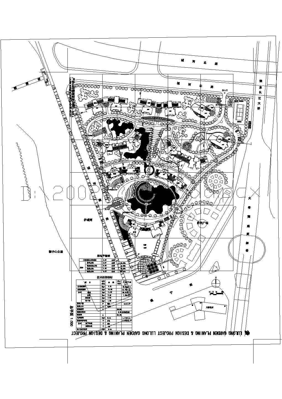 某十几万平米九百多户小区总平面规划图图片1