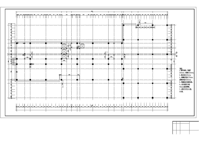 【10层】框架办公楼毕业设计底层平面图cad图纸图片1