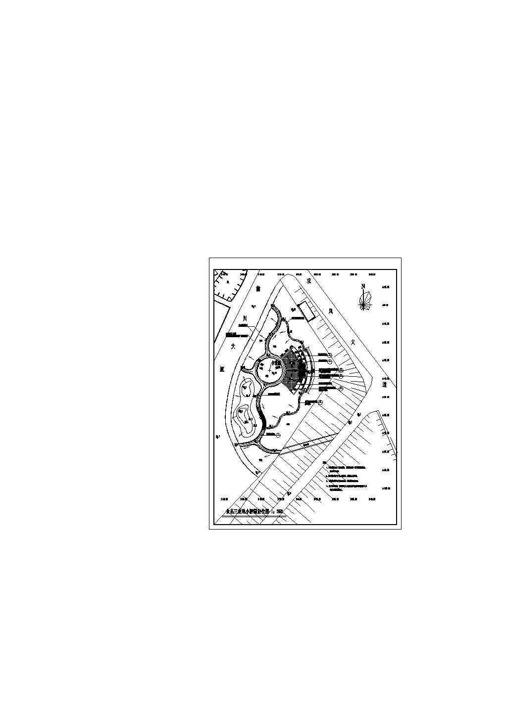 某广场施工CAD平面定位图图片1