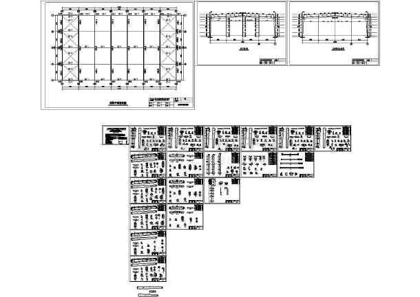 武胜4#钢结构厂房设计CAD施工图纸-图一
