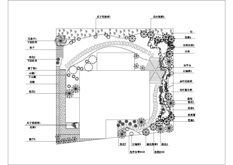 某别墅庭院绿化平面图图片1