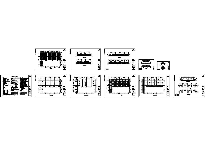 某跨度为21米单层门式钢架结构厂房(含钢结构设计说明)图片1