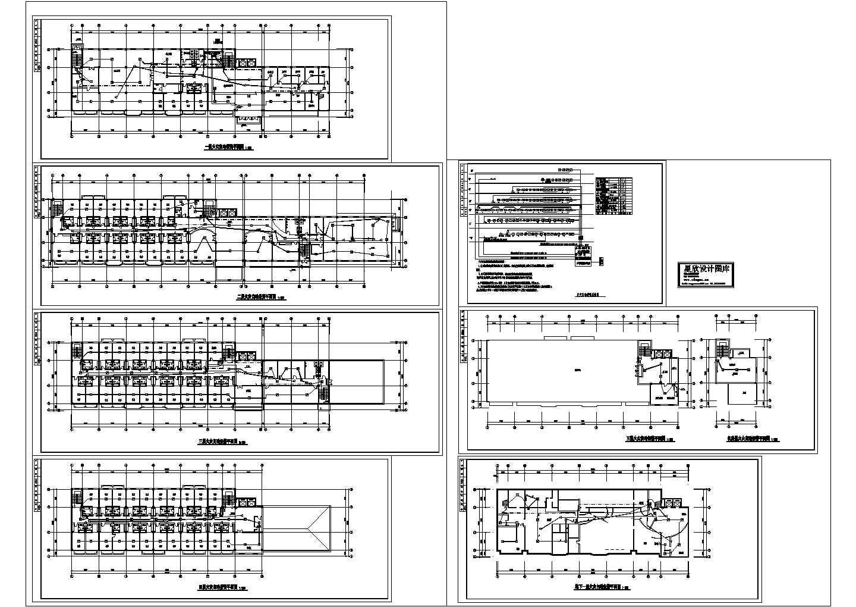 某地区疗养院电气消防cad系统图图片1