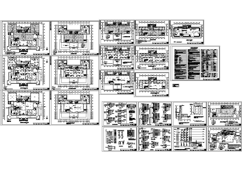 五层图书馆电气照明施工全套图纸图片1