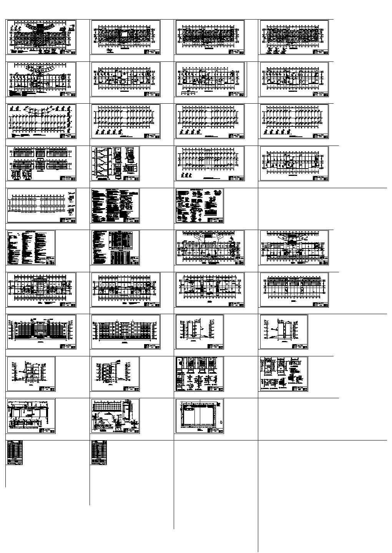 四层高校优秀毕业设计共三十八cad图纸图片1