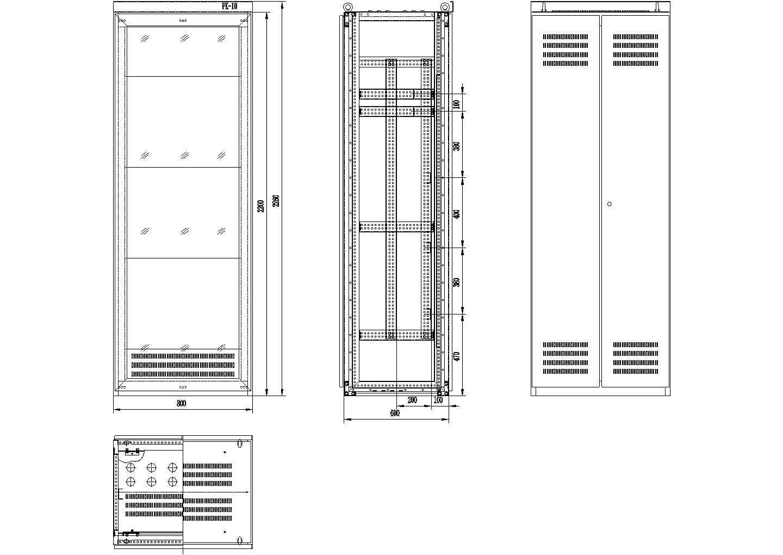 设备控制柜设计CAD图纸图片1