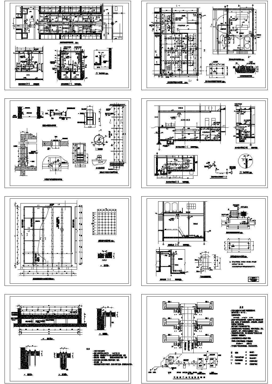 某地表水净水车间建筑设计图纸图片1