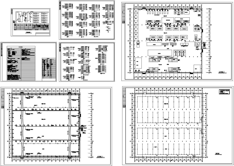 单层工业厂房电气设计图纸(高13米)图片1