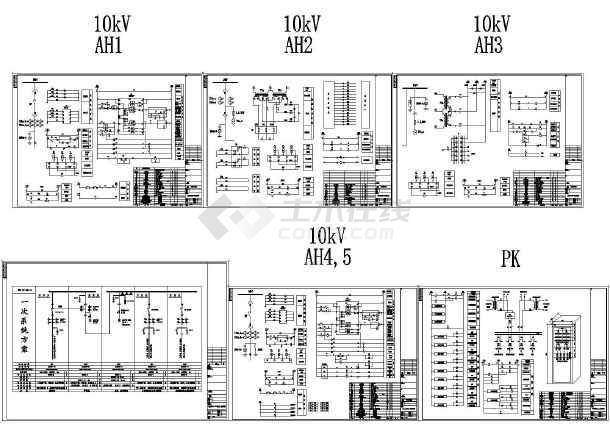 10KV电气柜一次系统图及二次原理图-图一