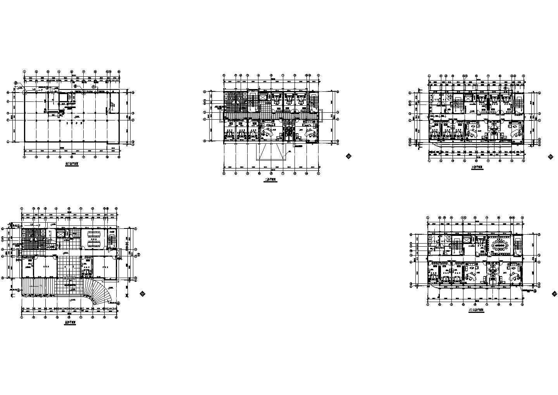 某地区六层办公楼电气cad图图片1