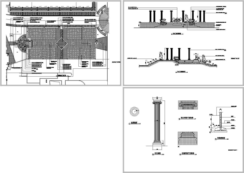 奥林匹克广场景观设计施工图图片1
