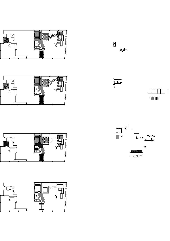 专业别墅庭院绿化CAD设计施工图图片1