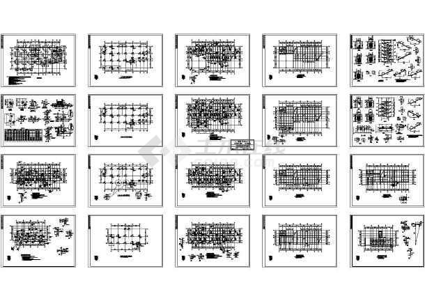 金华某办公楼结构图纸-图一