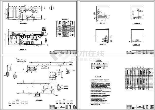某科技园区水源热泵工程cad平面设计施工图-图一