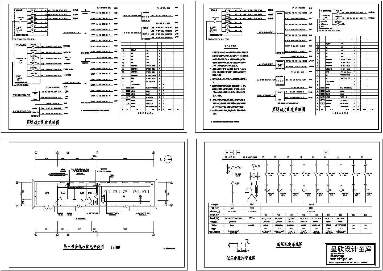 给水泵房低压配电平面图图片1