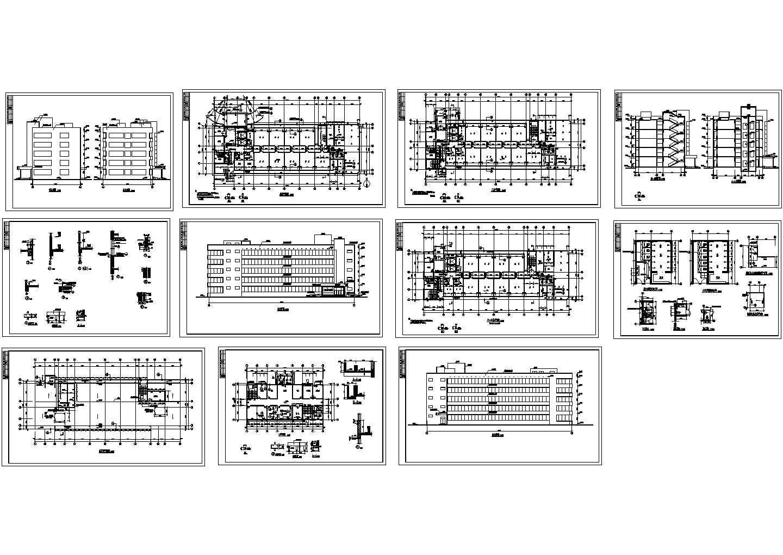 精神病疗养院全套建筑CAD图图片1