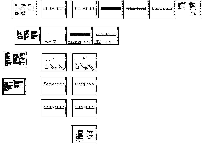 2层全套活动彩钢板房 工人宿舍用房CAD全套施工图(含建筑结构和水电专业)图片1