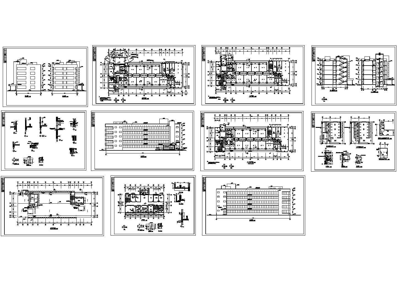 某精神病疗养院住院部建筑图图片1