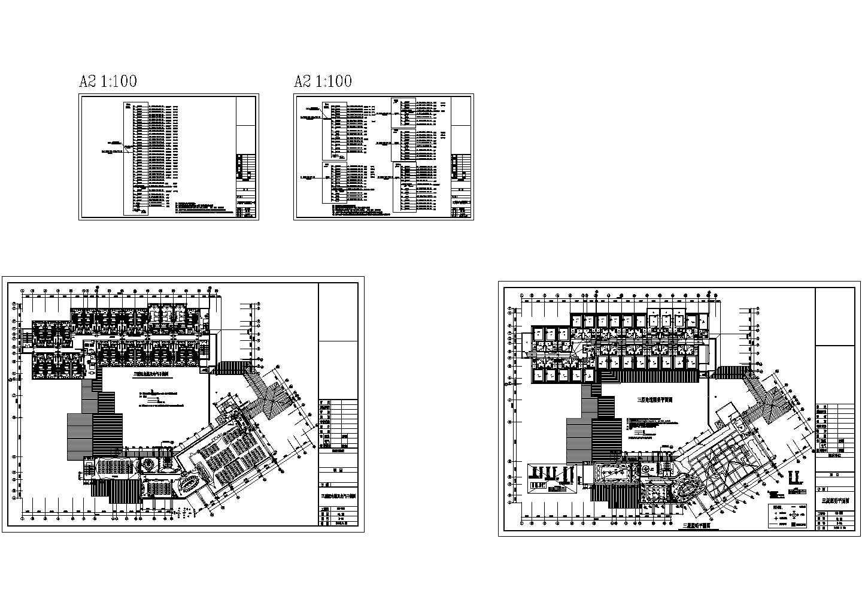 某地区层酒店电气照明cad设计平面图图片1