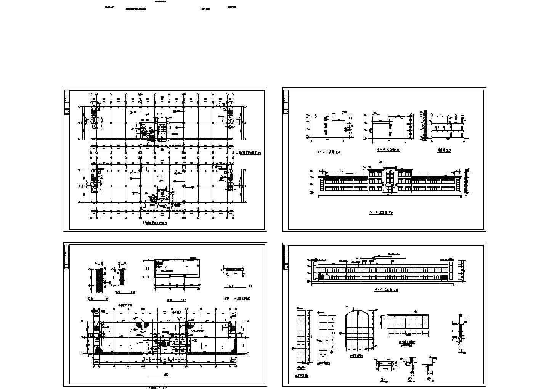 某三层厂房平立剖面图图片1