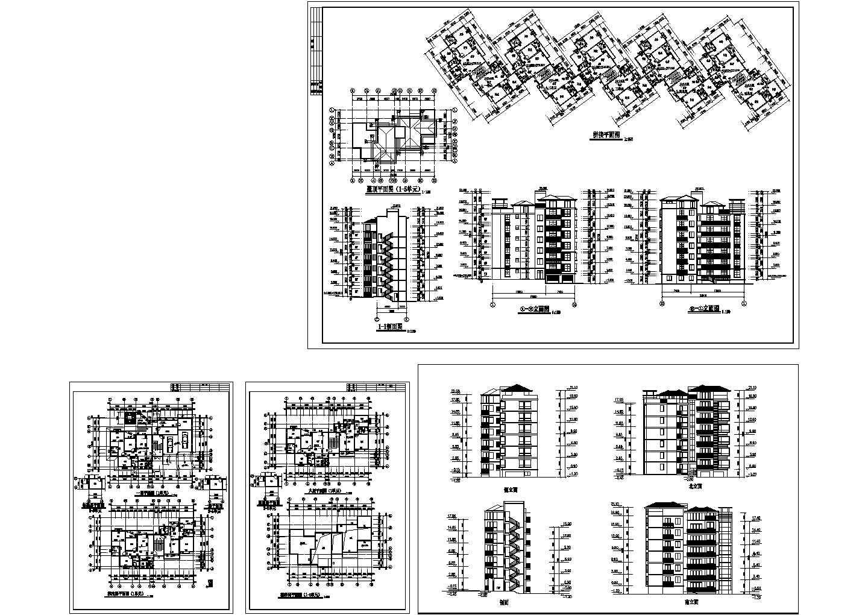 大川水岸六层住宅楼建筑扩初图图片1