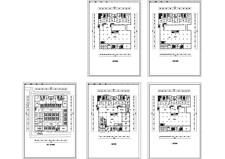 某大型商场设计方案cad图,共5张图片1