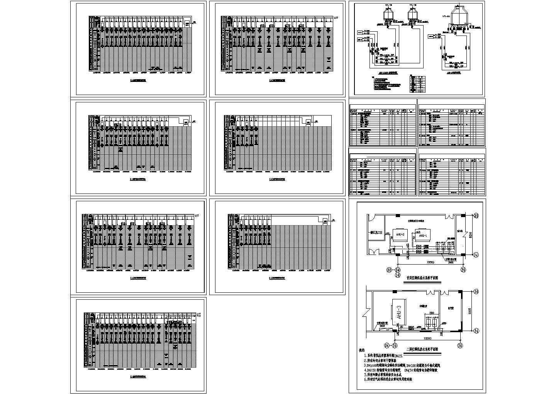 某地药厂厂房洁净空调系统设计cad施工图图片1