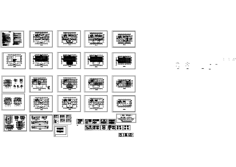 南京某大厦办公楼装修CAD图纸图片1