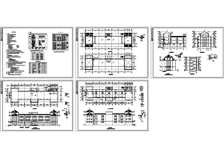 海阳市凤凰国际乡村社区2123.06�O商业楼框架结构建筑设计图图片1