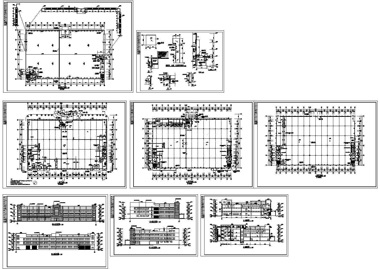 某地上三层厂房建筑CAD图.图片1