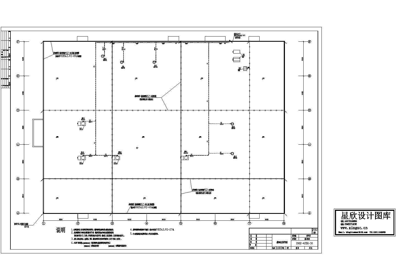 车间屋面配电及防雷平面图图片1