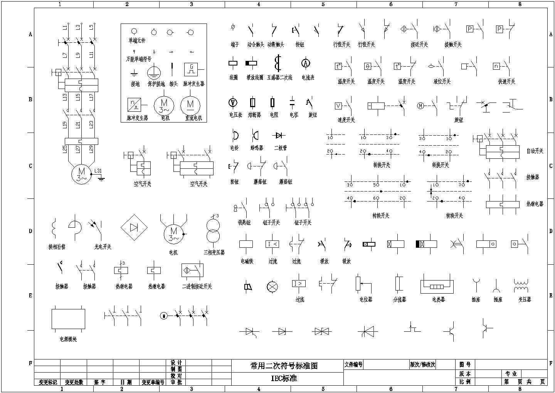 常用CAD电气制图标准图形设计图片1