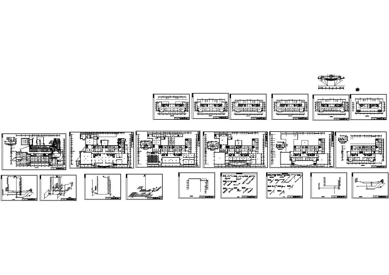 某地机关高层办公楼给排水设计CAD图图片1