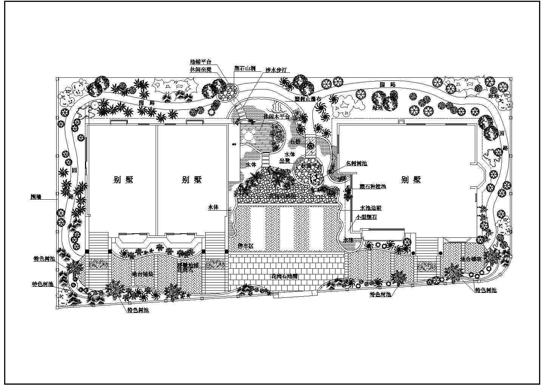别墅景观方案设计方案(共1张图纸)图片1
