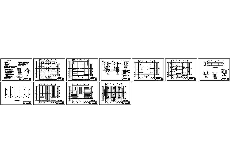 某二层实木北美式别墅结构设计图纸图片1