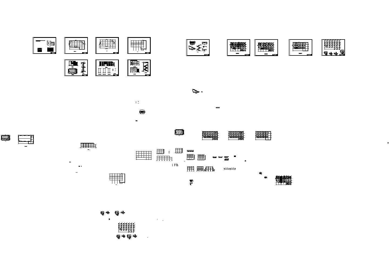某3层百货商场建筑cad全套图纸图片1