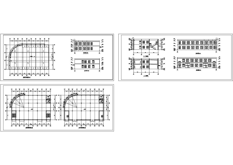 某两层钢架结构厂房建筑施工图纸图片1