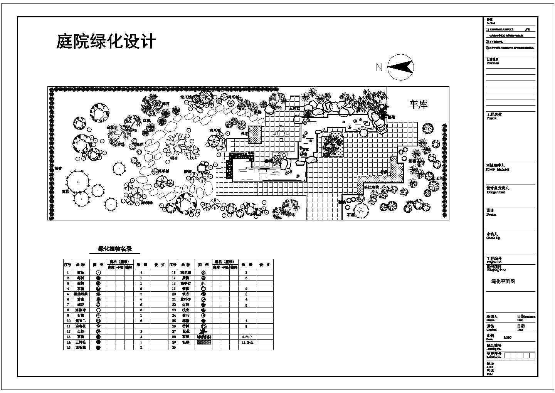 庭院绿化设计平面cad图图片1