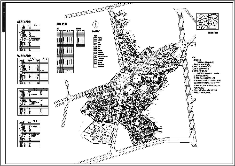 某新城市总体规划CAD总平面图图片1