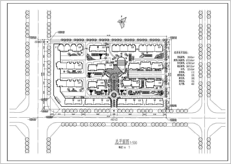 某地区住宅小区总平面建筑cad规划图图片1