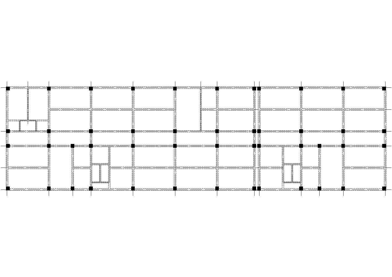 某五层综合楼带商场建筑结构毕业设计图纸图片1