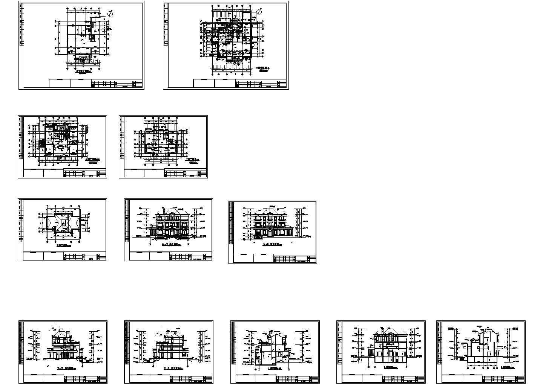 某三层奢华欧式别墅建筑扩初图图片1