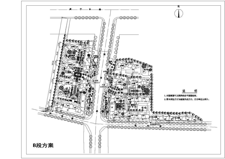 大型住宅小区总平面规划图图片1