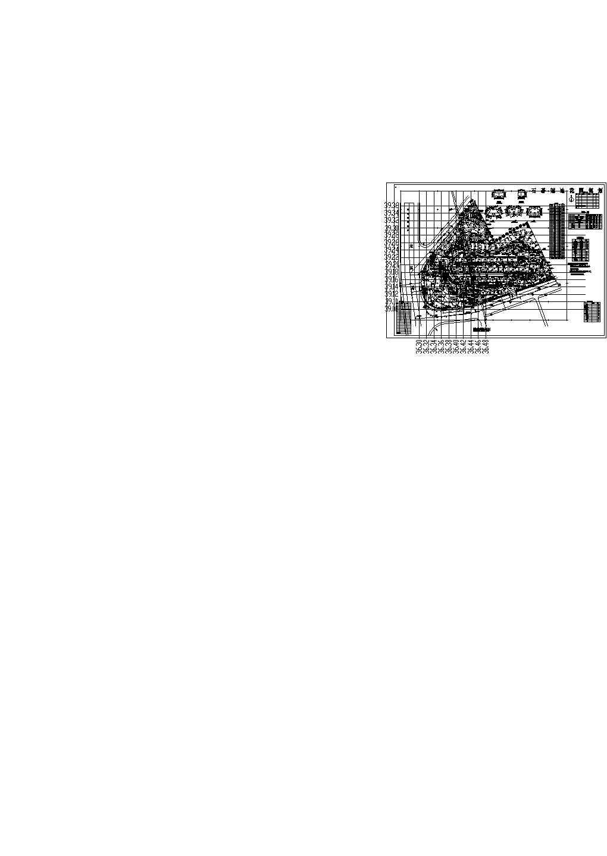 广州某冠迪花园住宅小区总平面cad图图片1