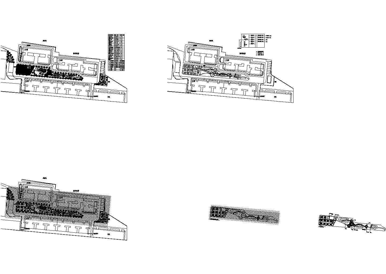 西安市某小区小型绿化施工图及预算书(初学者适用)图片1